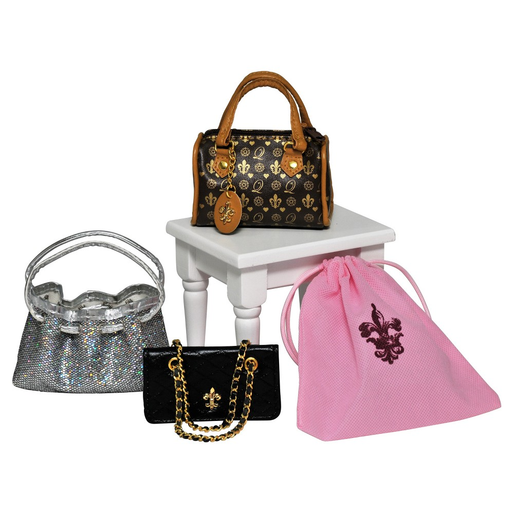 The Queen's Treasures S/3 Designer Handbags for 18Inch Girl Dolls, Multi-colored, One Size