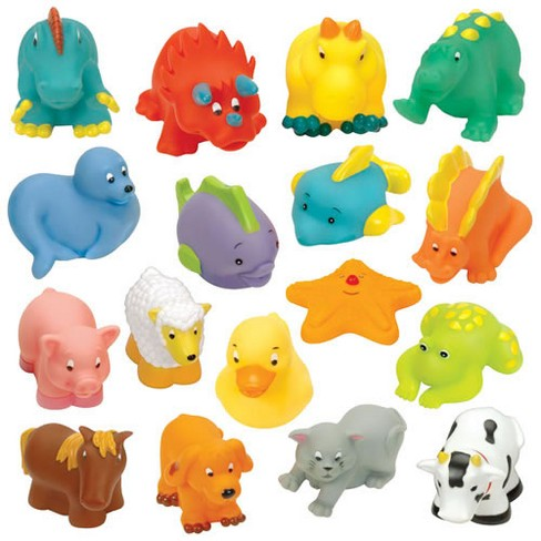 Battat My Bath Buddies Squeeze Toys  - Set of 17 - image 1 of 1