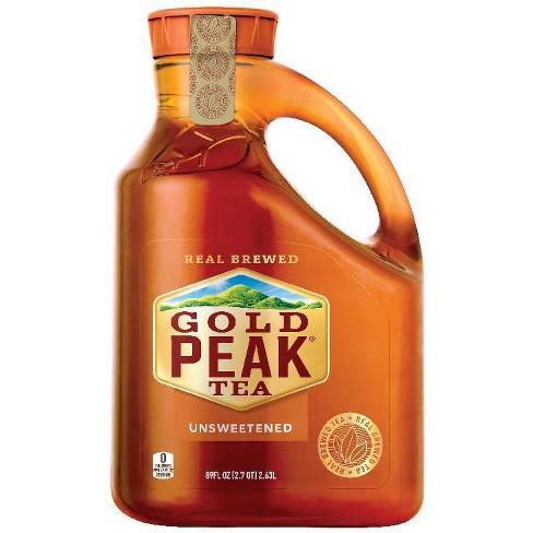 Gold Peak Unsweetened Black Iced Tea Drink - 89 fl oz - image 1 of 3