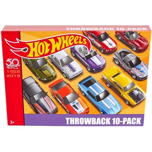 Hot Wheels 50th Anniversary Throwback 10pk Target