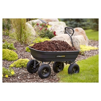Gorilla Carts Poly Garden Dump Cart With Steel Frame And Pneumatic Tires,  600 Pound Capacity