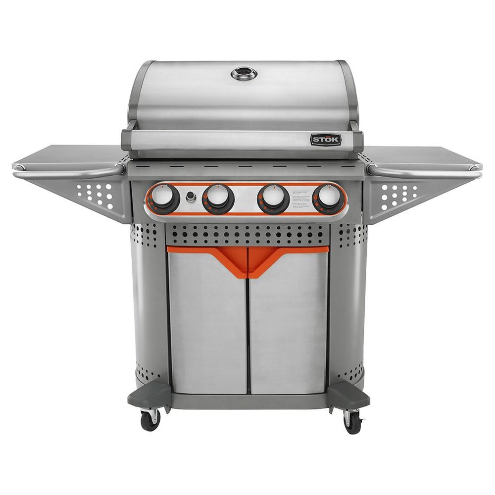 Quattro 4 Burner Gas Grill - Stok, Silver