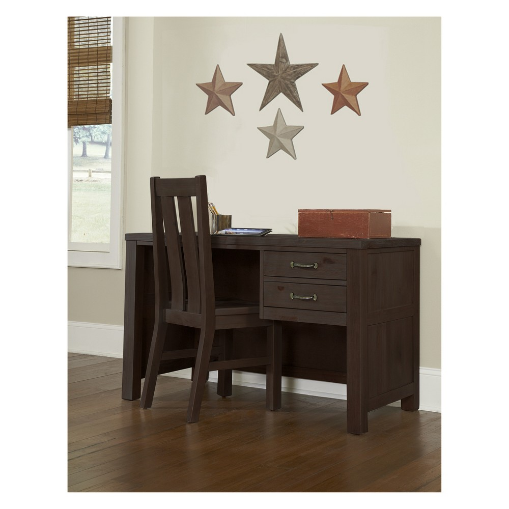 Image of Highlands Desk with Chair Espresso - Hillsdale Furniture, Brown