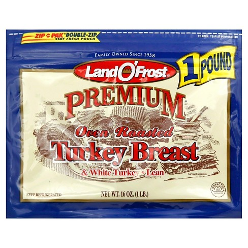 Land O' Frost Oven Roasted Turkey Breast -16oz - image 1 of 1