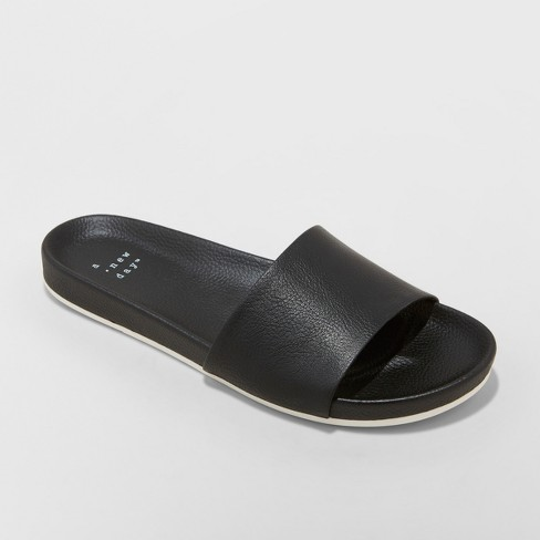 edc10abbf935 Women s Aveline Sport Slide Sandals - A New Day™ Black   Target