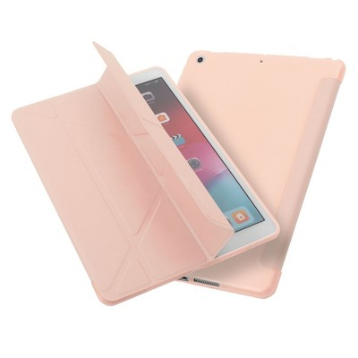 "Insten - Tablet Case for iPad Pro 10.2"" 2019 & 2020, Gen 7 & 8, Multifold Stand, Magnetic Cover Auto Sleep/Wake, Pencil Charging, Pink"