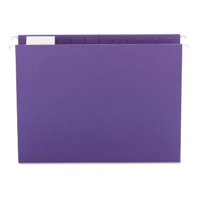 Smead Hanging File Folders 1/5 Tab 11 Point Stock Letter Purple 25/Box 64072