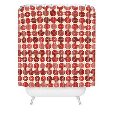 Holli Zollinger Decoflower Shower Curtain Red - Deny Designs
