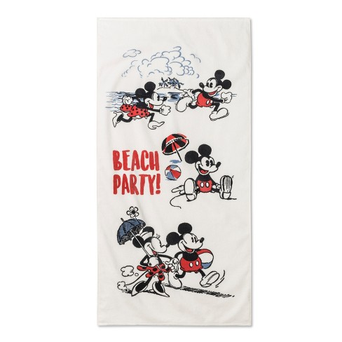 Junk Food Mickey Mouse Beach Towel Off-White - image 1 of 1