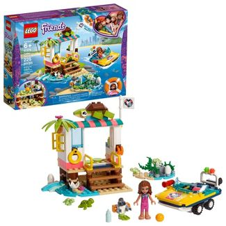 LEGO Friends Turtles Rescue Mission Building Kit Includes Toy Vehicle and Clinic 41376