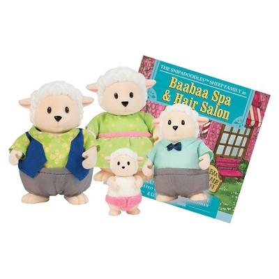 Li'l Woodzeez Miniature Animal Figurine Set - Snipadoodles Sheep Family