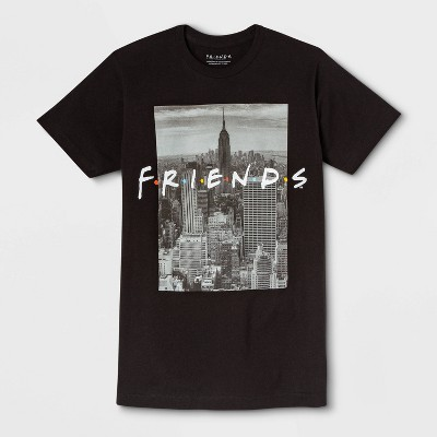 Men's Friends Short Sleeve Graphic Crewneck T-Shirt - Black