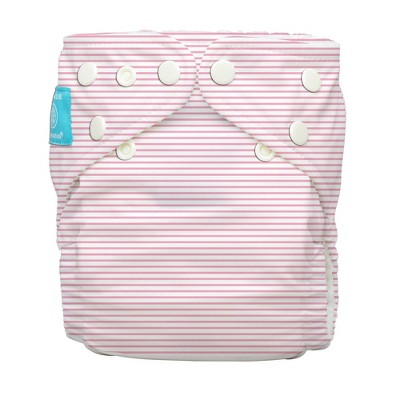 Charlie Banana Reusable All-in-One Diaper - Pink Pencil Stripe