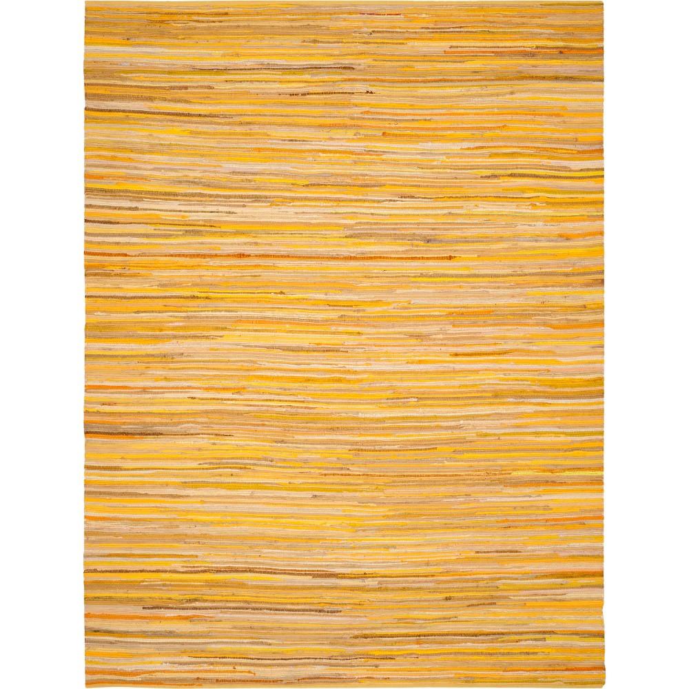 Best Sale 6X9 Spacedye Design Woven Area Rug Yellow Safavieh YellowMulti Colored
