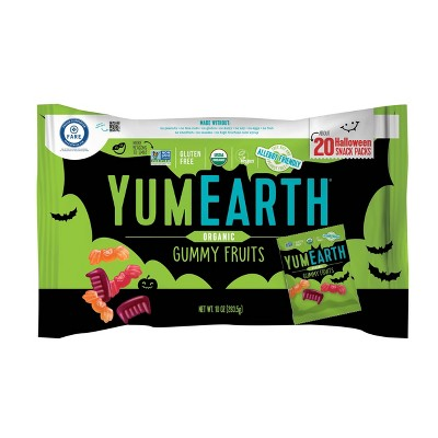 Yum Earth Halloween Organic Gummy Fruits - 10oz/20ct