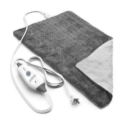 "Pure Enrichment PureRelief Deluxe Heating Pad - 12"" x 24"" - Gray"