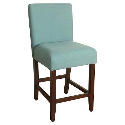 "24"" Upholstered Counter stool Aqua - HomePop"