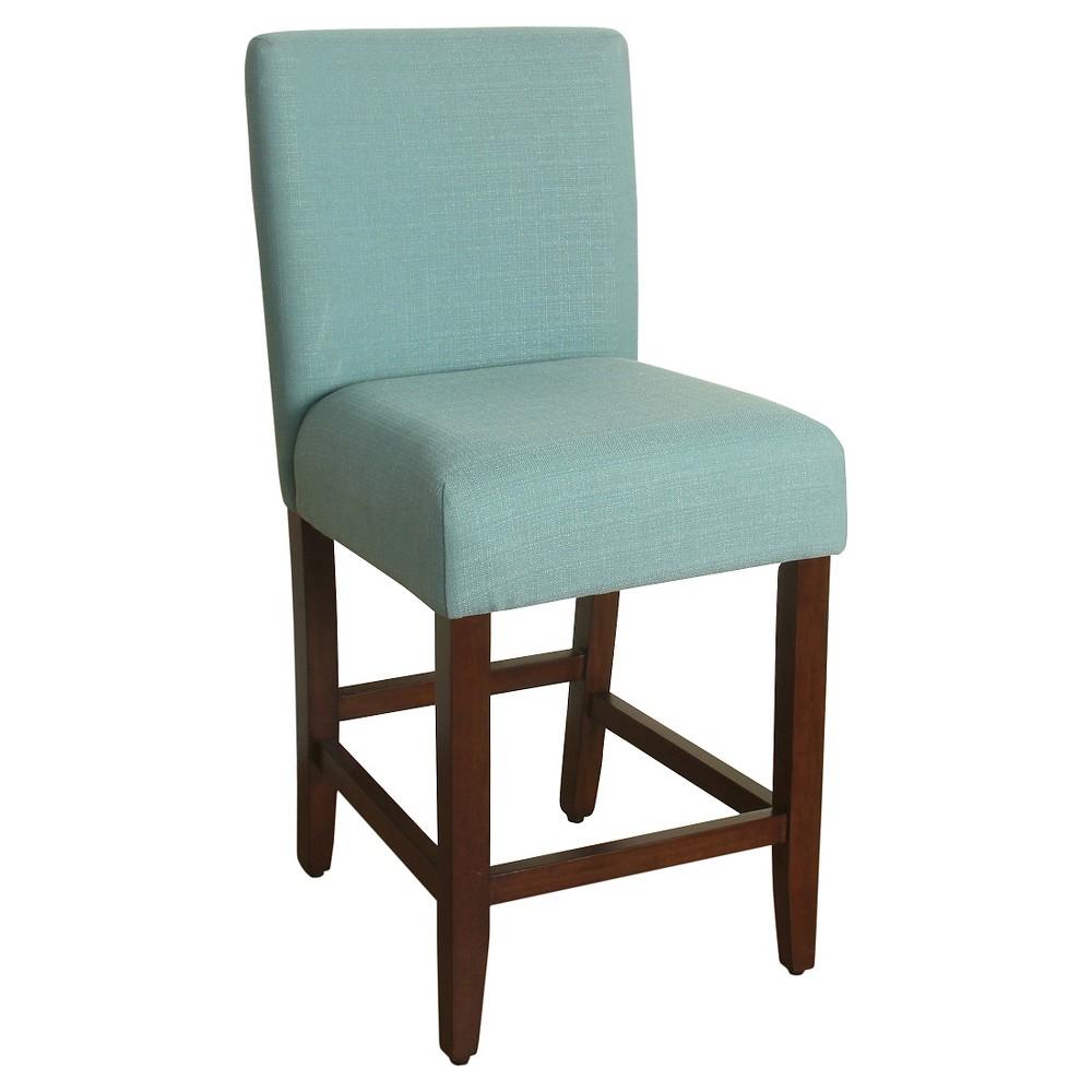 24 Upholstered Counter stool - aqua (Blue) - HomePop