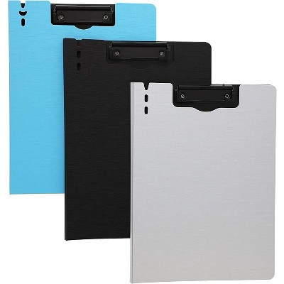 """6-Pack Clipboard Folder for Letter Size Paper in 3 Colors, Foldable Cover Ideal for Office & Classroom, 9.3"""" x 12.6"""""""