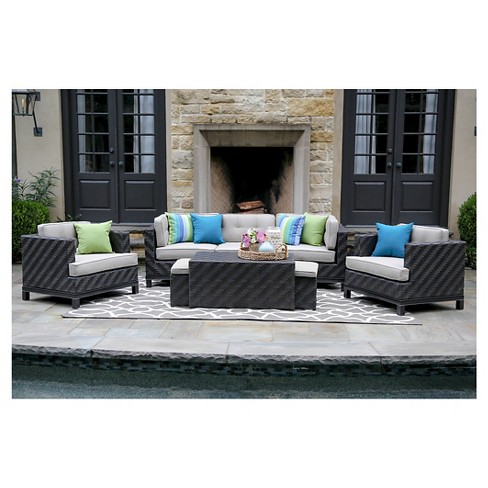 Rachel 8-Piece Deep Seating with Sunbrella Fabric Cast - Ash - image 1 of 6