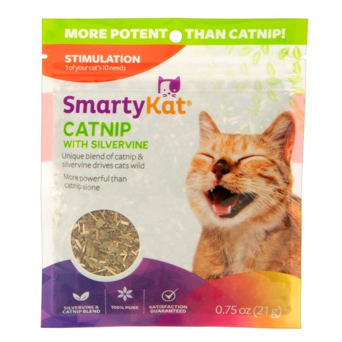 SmartyKat Silvervine & Catnip Blend Resealable Pouch -  0.05oz - image 1 of 4