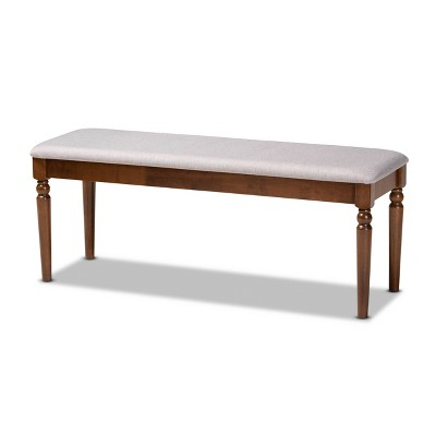 Giovanni Fabric Upholstered and Wood Dining Bench - Baxton Studio