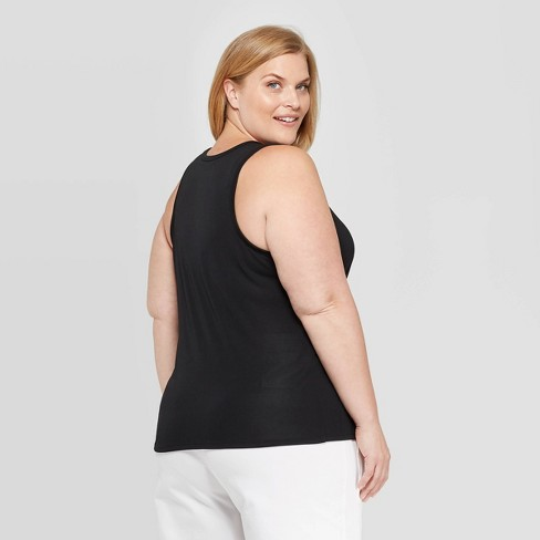 97338236323 Women s Plus Size Sleeveless Scoop Neck Tank Top - Prologue™ Black ...