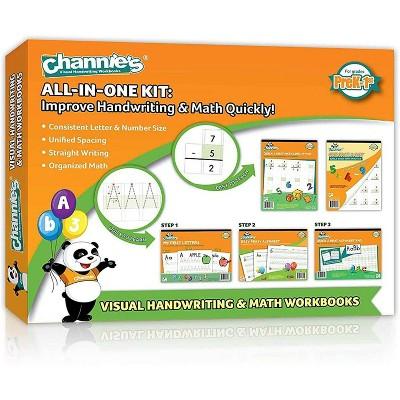Channie's 5pk All-in-One Handwriting & Math Workbooks - PreK-1st Grade