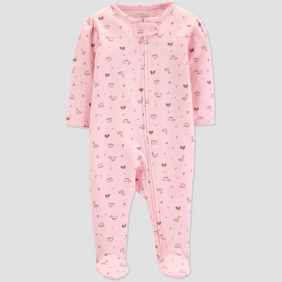 Little Planet Organic by carter's Baby Girls' Footed Sleeper - Pink 3M