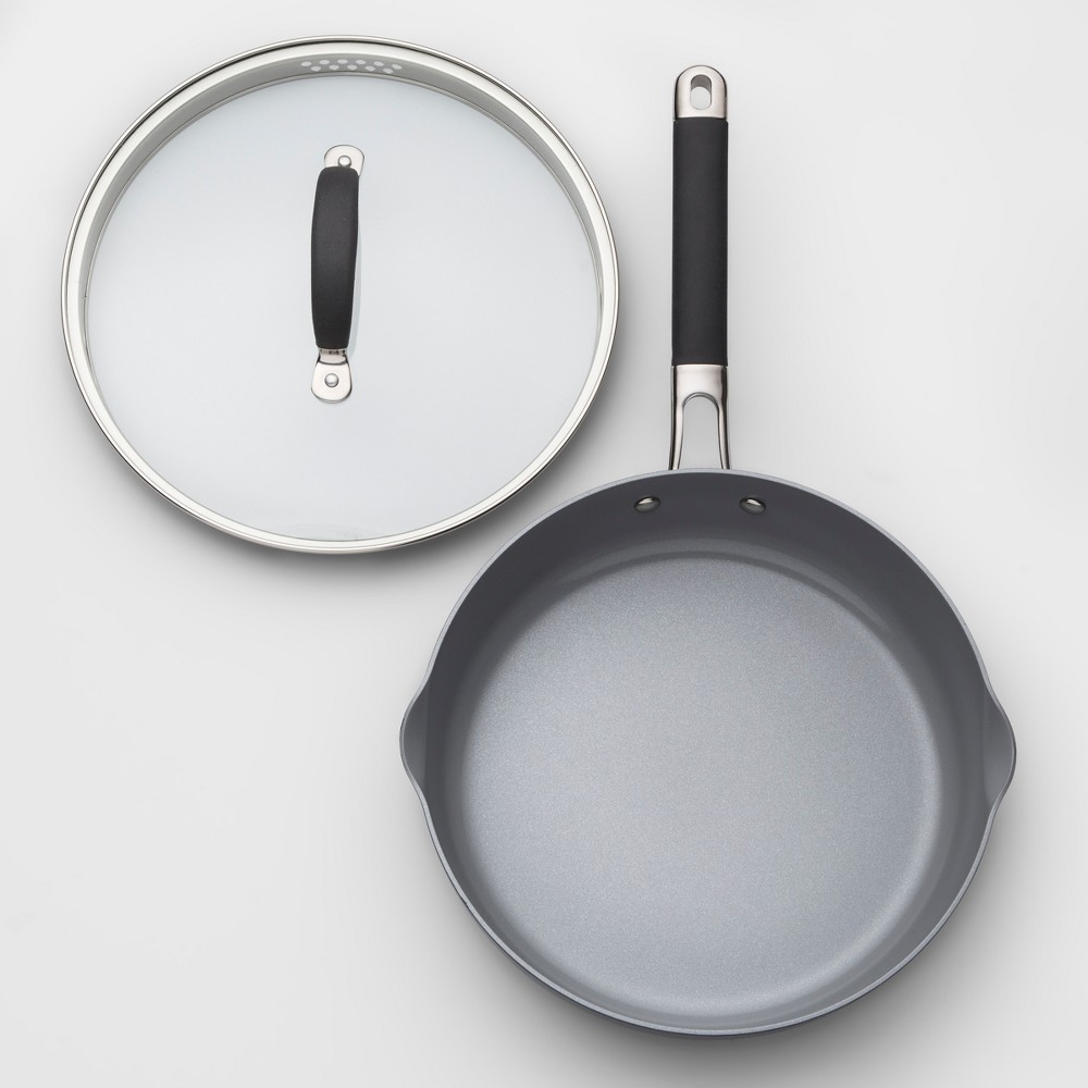"Image of ""Ceramic Coated Aluminum Covered Sauté Pan 10"""" - Made By Design , Gray"""