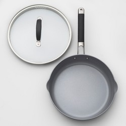 "Ceramic Coated Aluminum Covered Saut Pan 10"" - Made By Design™"