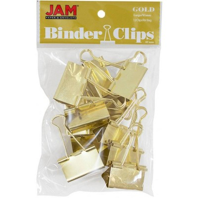 "JAM Paper 1 1/2"" 12pk Colorful Binder Clips - Large"