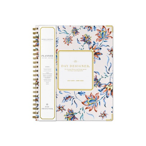 "2019-2020 Academic Planner 8.5""x 11"" Floral Watercolor- Day Designer for Blue Sky - image 1 of 5"