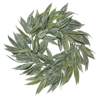 Artificial Muddy White Willow Wreath (24 )Green - Vickerman