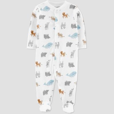 Baby Boys' Animal Sleep N' Play - little planet organic by carter's Sand White 3M