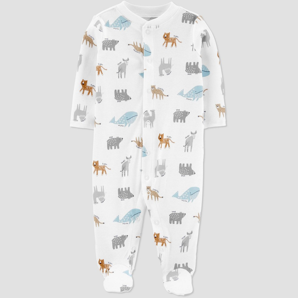 Image of Baby Boys' Animal Sleep N' Play - little planet organic by carter's Sand White 6M, Girl's, Beige