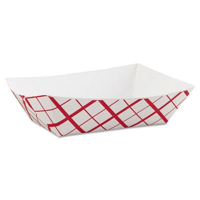 SCT Paper Food Baskets 3lb Red/White 500/Carton 0425
