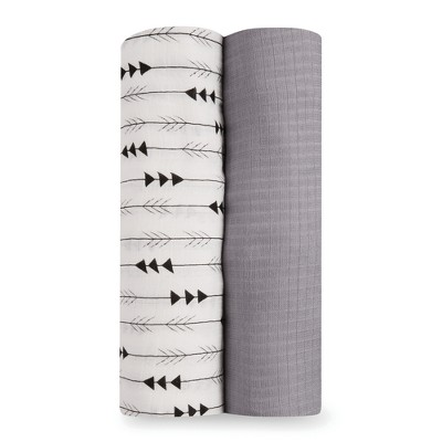 Aden by Aden + Anais Silky Soft Swaddles - Flying Arrow - Gray