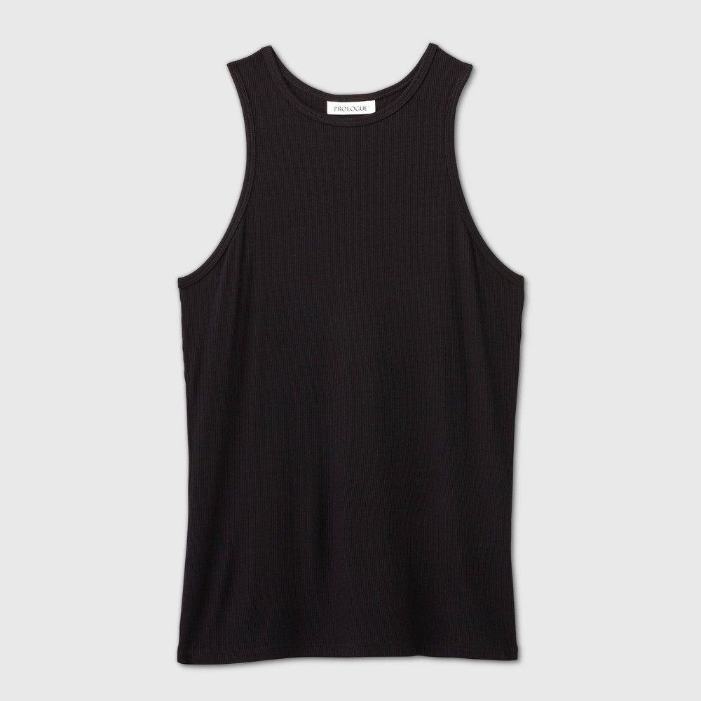Rib-knit tank top made from a lightweight fabric for comfort. Cut in a fitted silhouette that falls below the hip, and a round neckline completes the look. Size: XXL. Color: Black. Gender: female. Age Group: adult. Pattern: Solid. Material: Rayon.