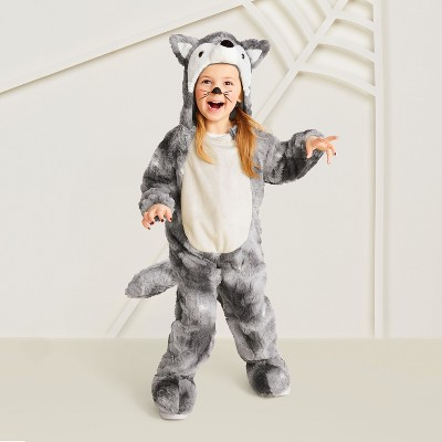 Toddler Plush Wolf Halloween Costume 2T-3T - Hyde and Eek! Boutique™