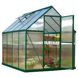 6'X8' Mythos Greenhouse - Green - Palram