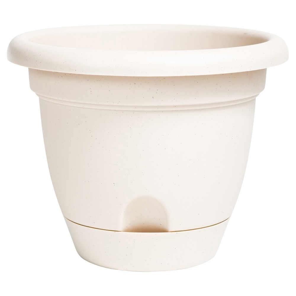 """Image of """"12"""""""" Lucca Self Watering Planter Taupe Bloem, Size: 12"""""""", Brown"""""""