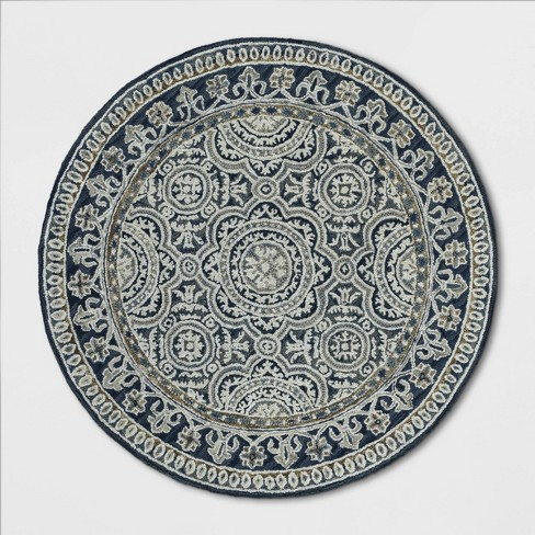 6' Round Floral Belfast Tufted Area Rug