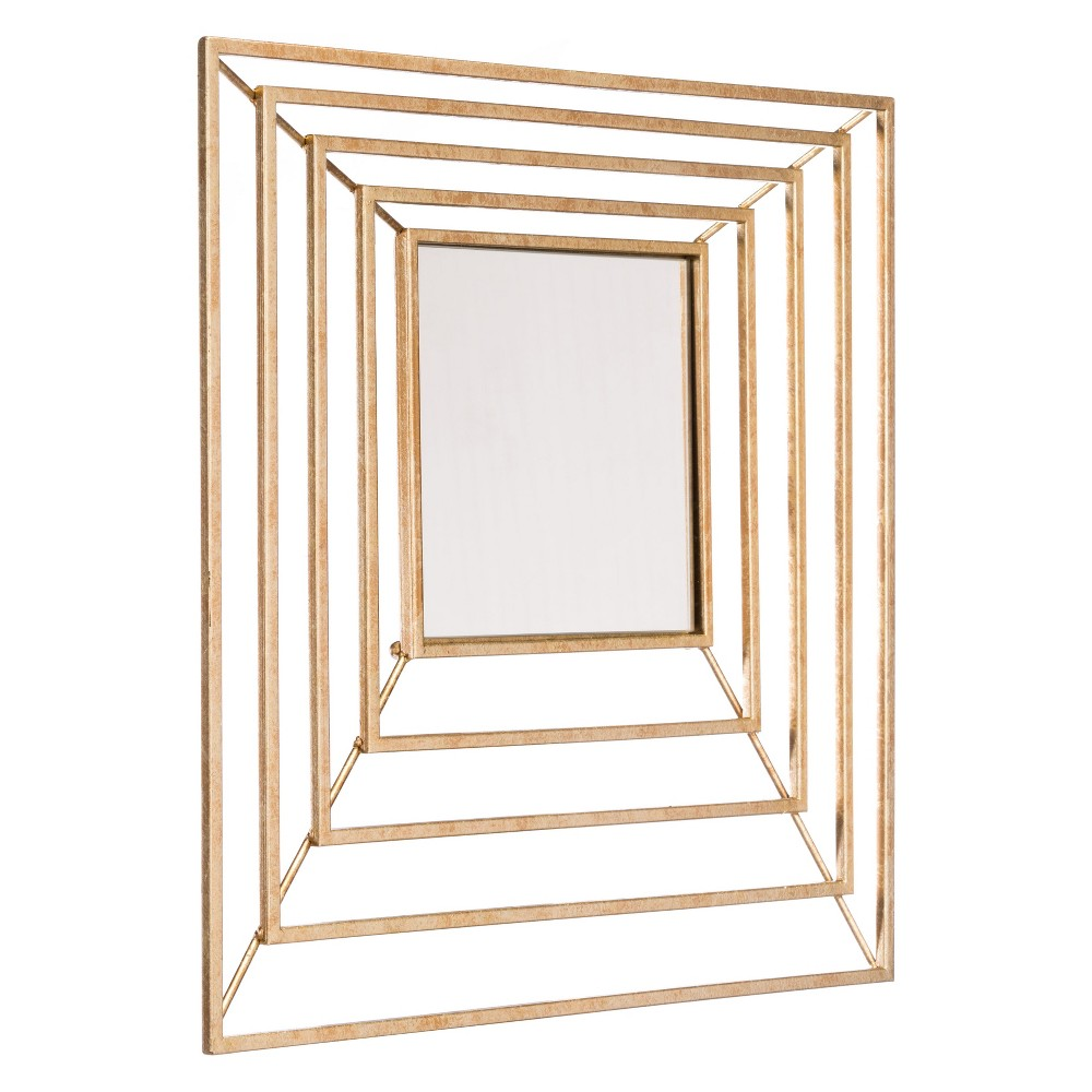 ZM Home 16 Luxe Square Mirror Gold