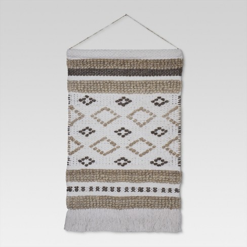 "Woven Wall Hanging - Cream/Neutral (18""x31"") - Threshold™ - image 1 of 3"