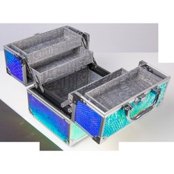 Caboodles Makeup Bags And Organizers Adorned Train Case - Iridescent