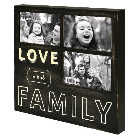 3 Opening Frame - Love & Family - Holds 3-4x6 Photos - image 1 of 1