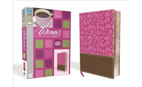 Women's Devotional Bible : New International Version, Chocolate / Berry, Leathersoft - Large Print - image 1 of 1