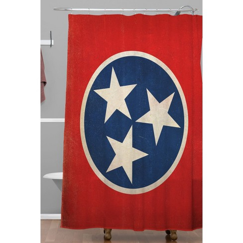 Rustic Tennessee State Flag Shower Curtain Navy Red Target