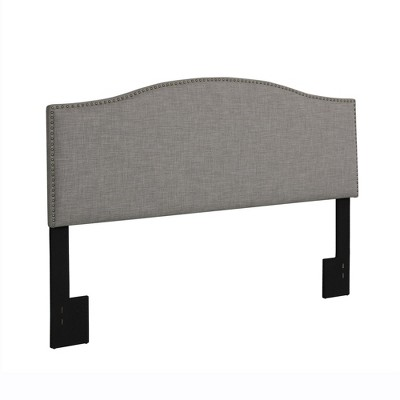 King Brinley Linen Headboard with Nailheads Gray - Dorel Living